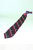 Classic Silk Tie - Red & Navy Stripe