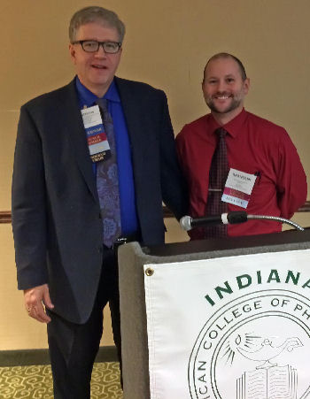 >Dr. Brandon Dickey</strong>, Council Member, Treasurer, and Indiana Services President, received the Governor's Award from Dr. Neal in recognition for his many areas of service to the Chapter.