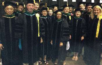 New Fellows marching in convocation
