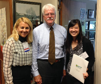 Drs. Soma Wali and Kristina Lee with Congressman George Miller