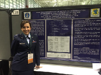 Capt Blair Laufer presenting her poster.