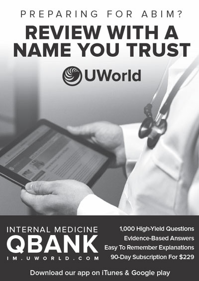 Preparing for ABIM? Review with a name you trust: UWorld