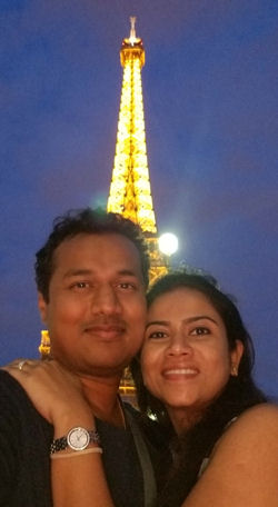 Dr. Nagendra Gupta and his wife, Deepthi, visited Paris on their first trip to Europe last year.