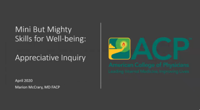 Mini But Mighty Skills for Well-being: Appreciative Inquiry